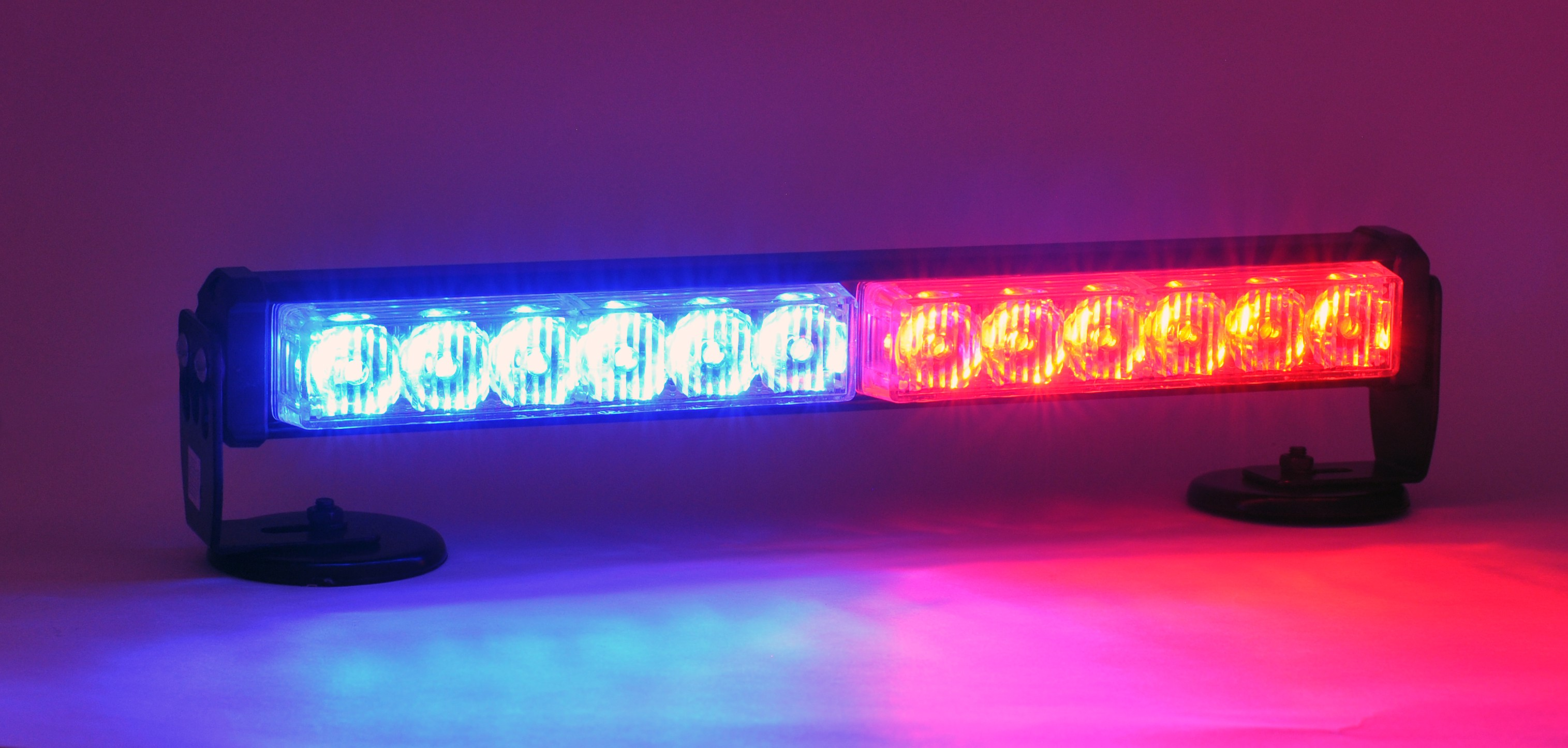 Good 2 Panel LED Dash/Deck Interior Light Bar   Red/Blue