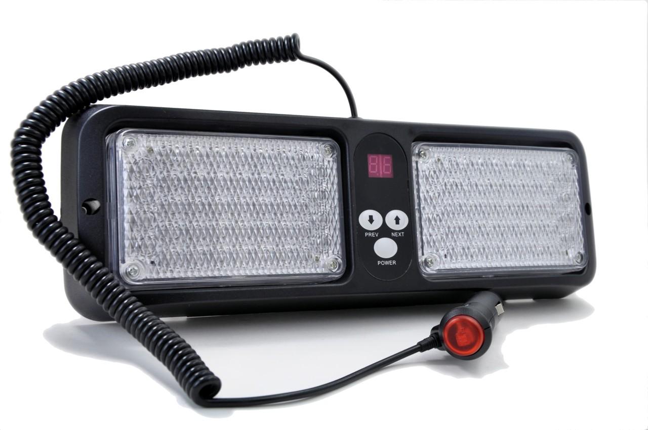 Amber / White LED Visor Strobe Light