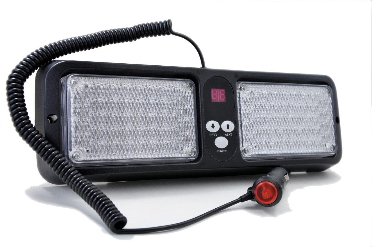 Red / Amber LED Visor Strobe Light