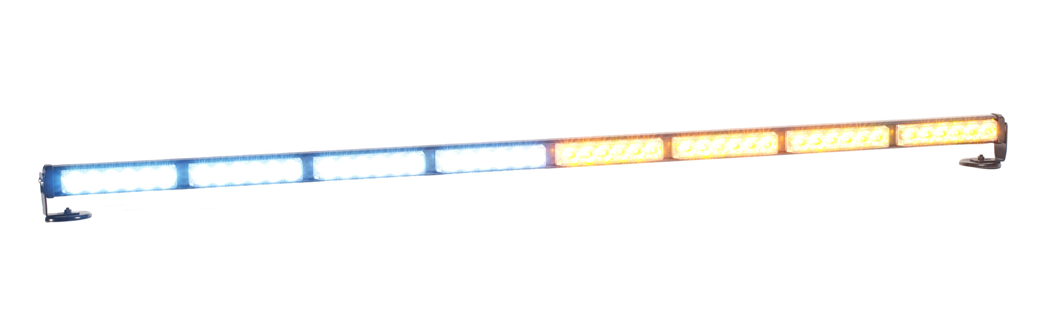 "P8X6 50"" LED Traffic Advisor Police Interior Light Bar Amber / White"