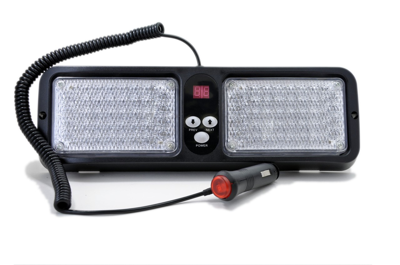 Led Strobe Lights For Trucks >> Visor LED Emergency Strobe Lights Red / White